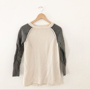 Rebecca Taylor | Metallic Sleeve Baseball Sweater